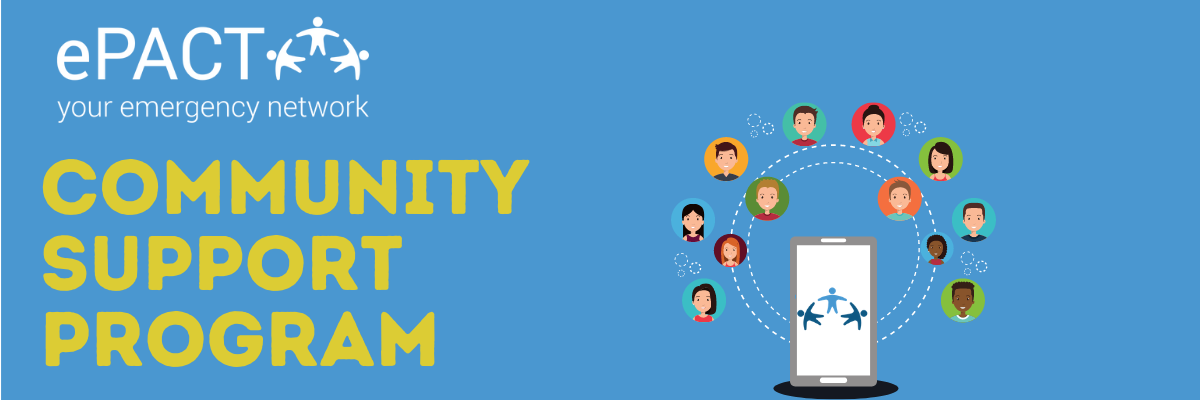 Community Support Program Header
